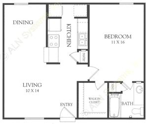 678 sq. ft. G floor plan