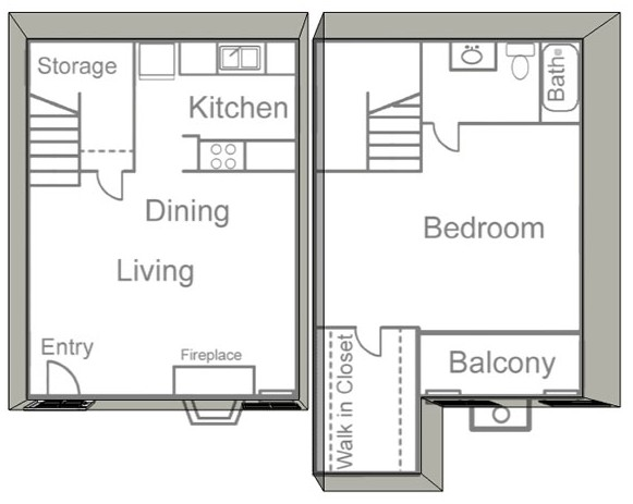 750 sq. ft. A floor plan