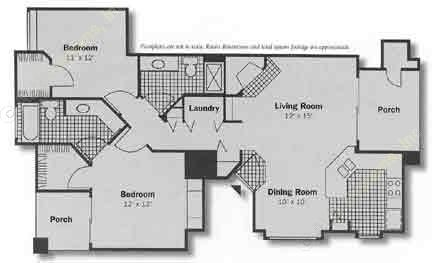 1,060 sq. ft. Franklin floor plan