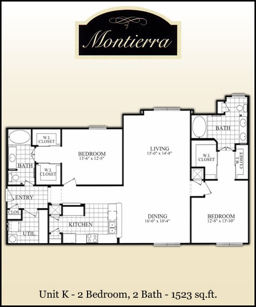 1,523 sq. ft. K floor plan