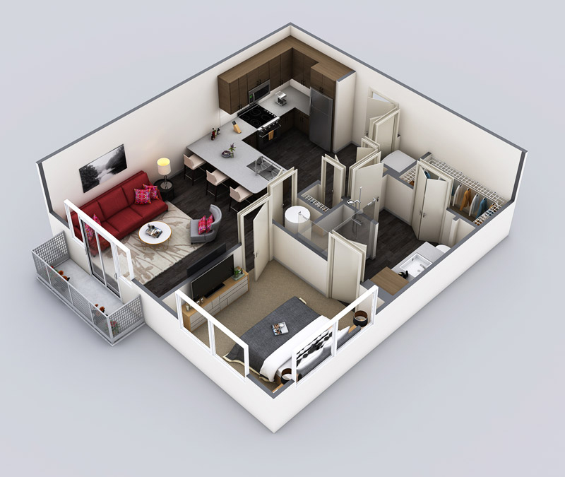 719 sq. ft. Impressionist Edit floor plan
