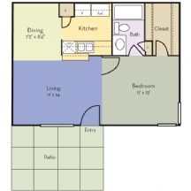 570 sq. ft. Hybiscus floor plan