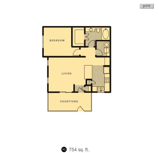 754 sq. ft. Jupiter floor plan