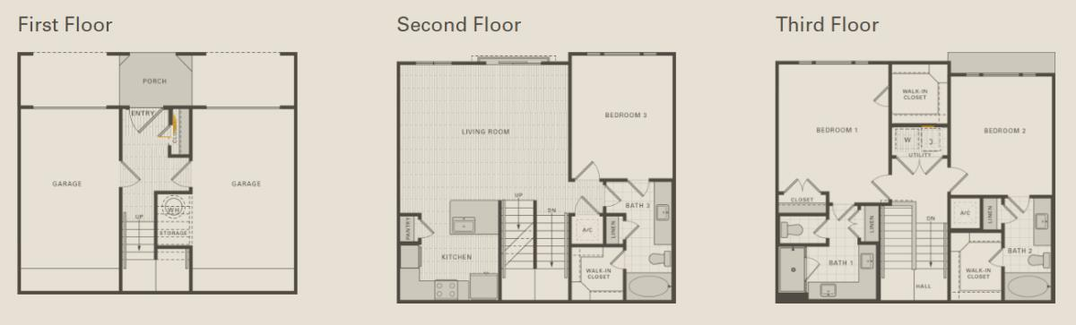 1,565 sq. ft. D1 floor plan