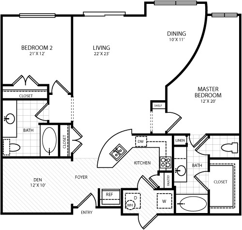 1,322 sq. ft. L1 floor plan