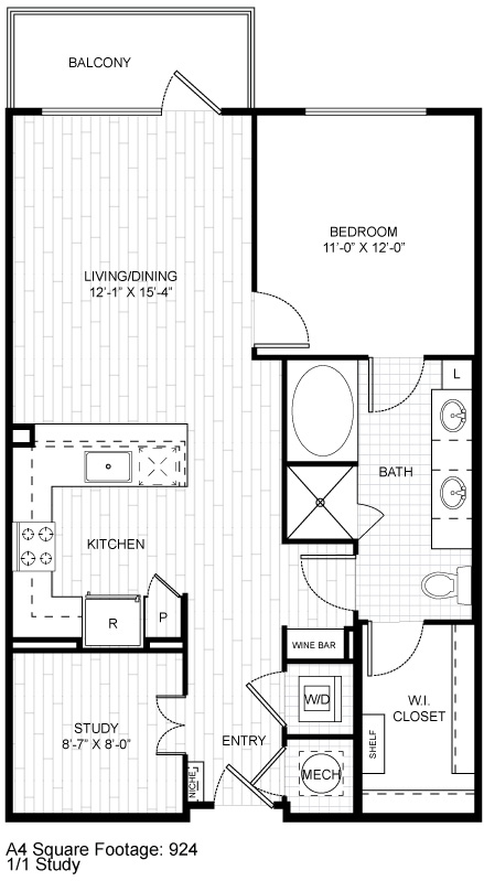 918 sq. ft. A9.2 floor plan