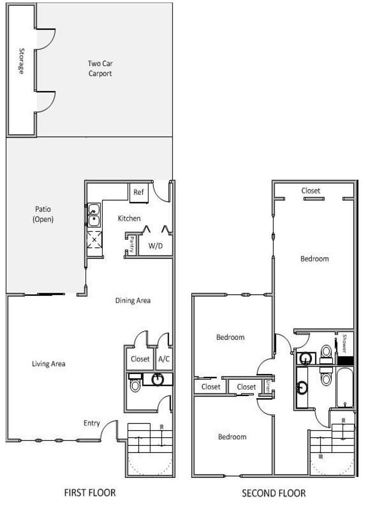 1,335 sq. ft. J floor plan