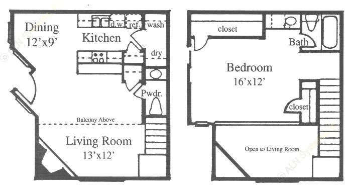 837 sq. ft. G floor plan