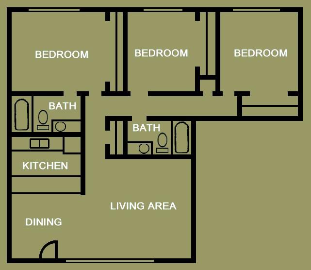 1,239 sq. ft. floor plan