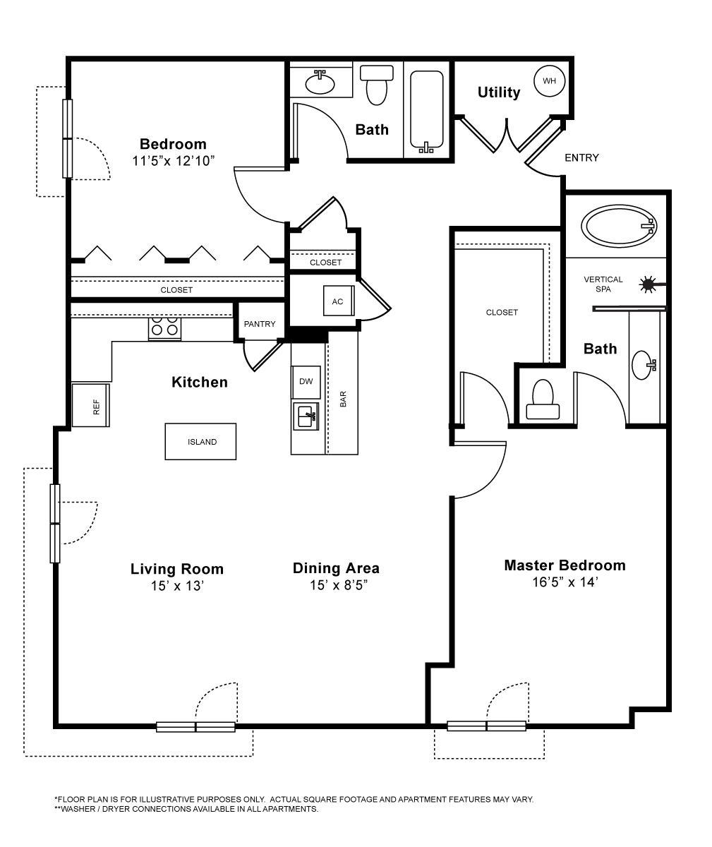 1,267 sq. ft. Marlaix floor plan