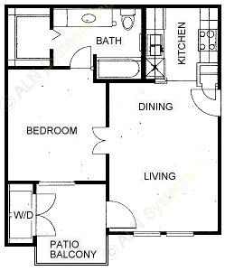 560 sq. ft. A floor plan