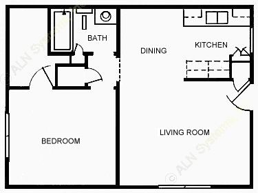 588 sq. ft. floor plan