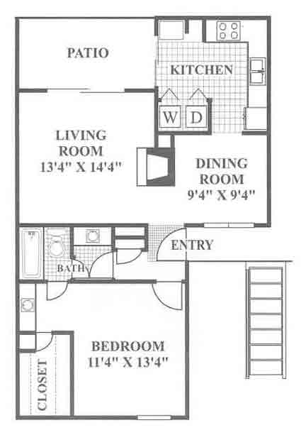 788 sq. ft. Ruby Hill floor plan