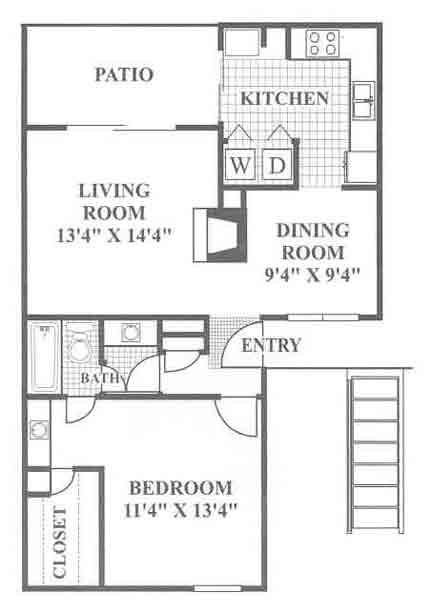 788 sq. ft. Ruby Hill floor plan