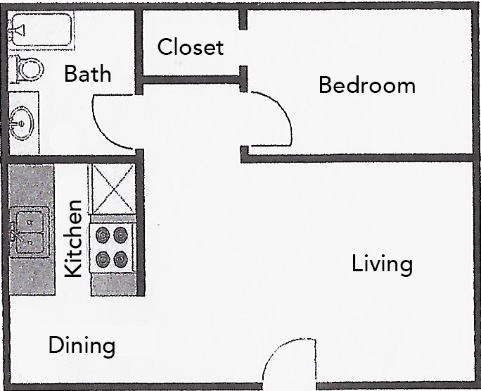 546 sq. ft. ABP floor plan