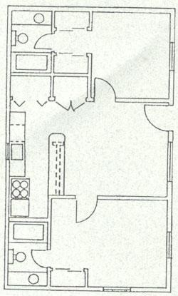 815 sq. ft. floor plan