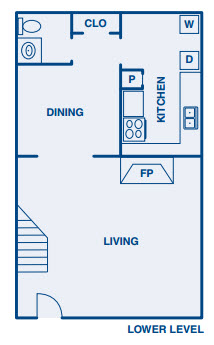 1,376 sq. ft. B floor plan