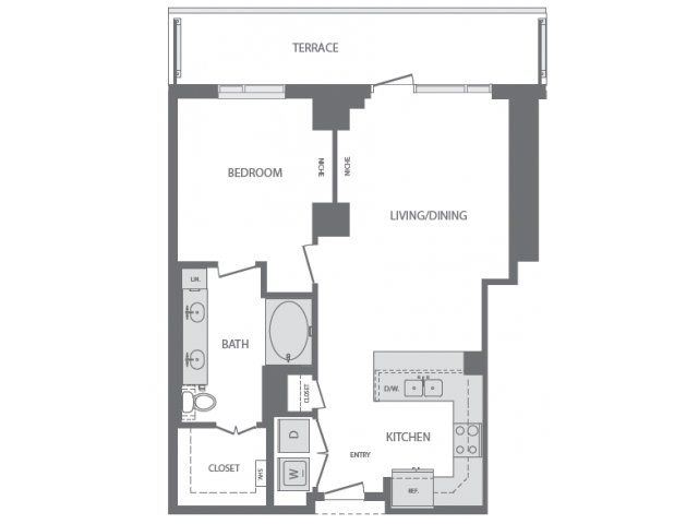 830 sq. ft. to 937 sq. ft. G floor plan