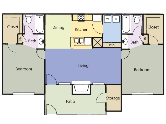 1,014 sq. ft. Sweet Gum floor plan
