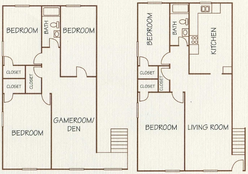 1,850 sq. ft. floor plan