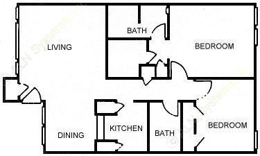 986 sq. ft. B3 floor plan