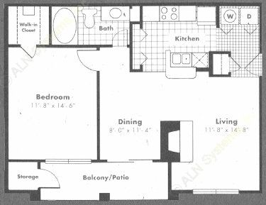 740 sq. ft. Riviera floor plan