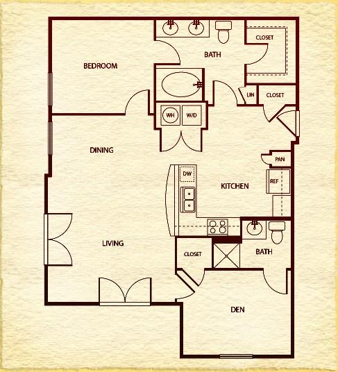 1,010 sq. ft. floor plan