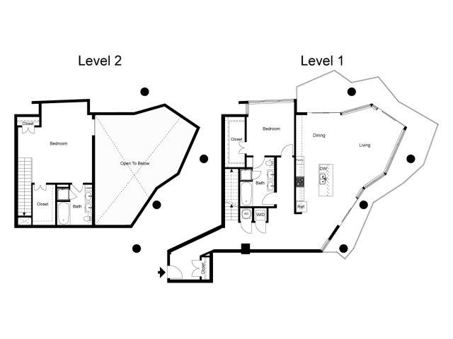 1,936 sq. ft. Loft 2C floor plan