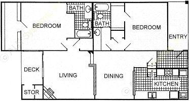 1,185 sq. ft. floor plan