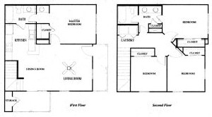 1,360 sq. ft. 60% floor plan