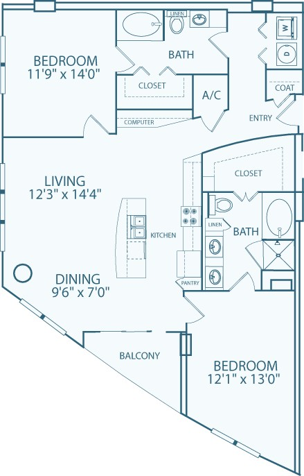 1,429 sq. ft. floor plan