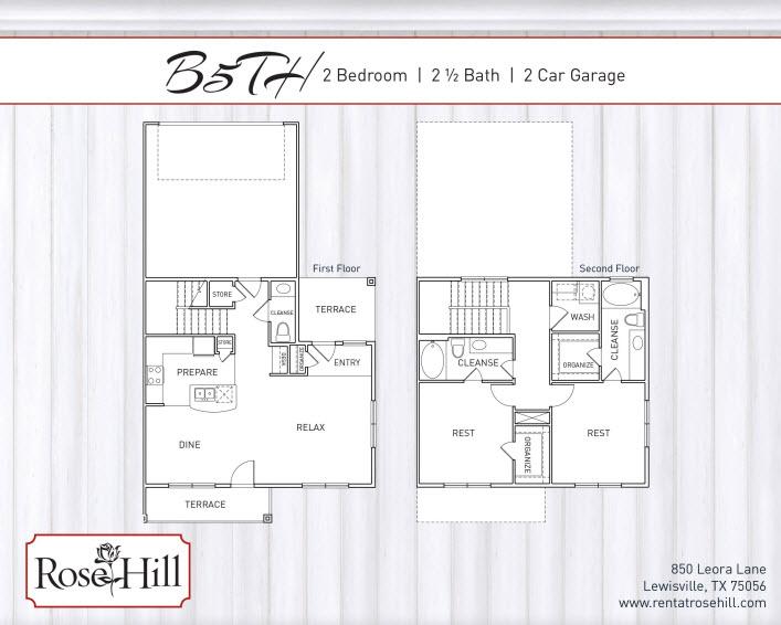 1,519 sq. ft. B5TH floor plan