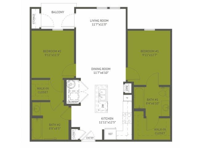 914 sq. ft. Altgelt/Mkt floor plan