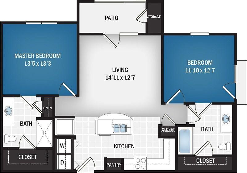 1,040 sq. ft. Leo floor plan