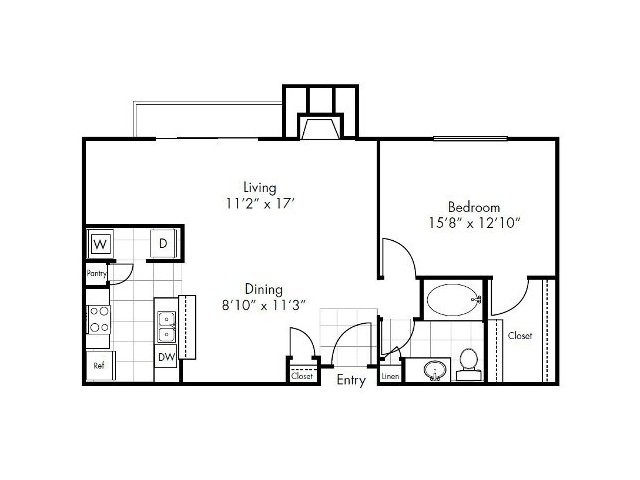941 sq. ft. Victoria floor plan