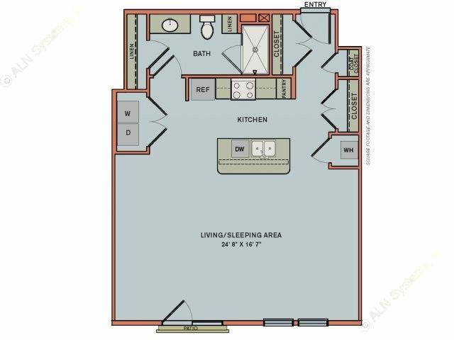 789 sq. ft. 3S5 floor plan