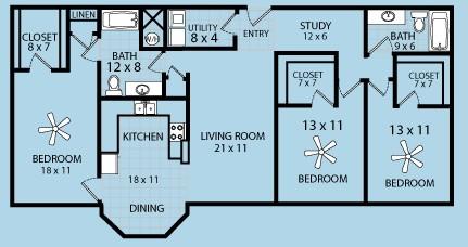 1,647 sq. ft. floor plan