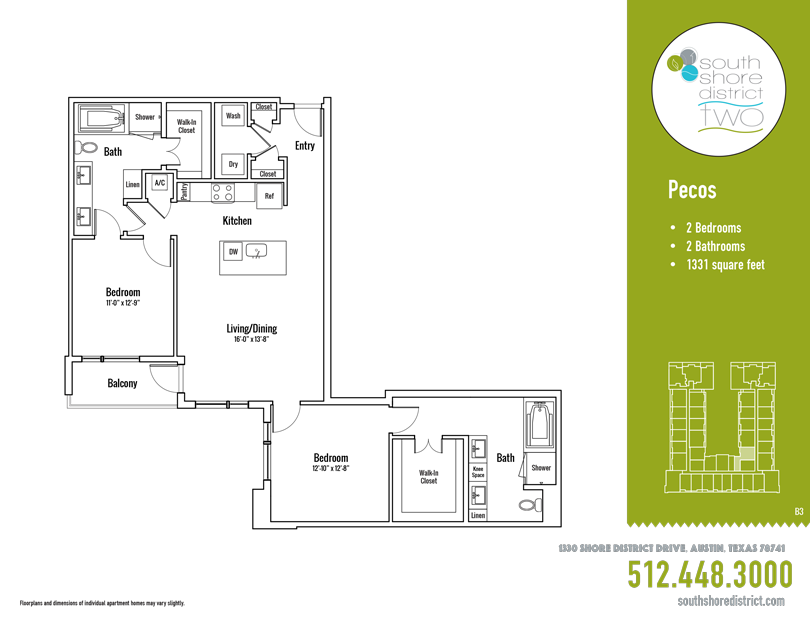 1,331 sq. ft. Pecos floor plan