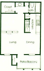 502 sq. ft. floor plan