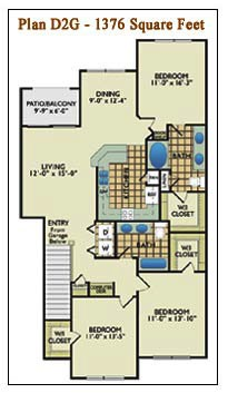 1,376 sq. ft. D2G floor plan