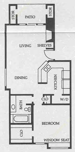 788 sq. ft. A4 50% floor plan