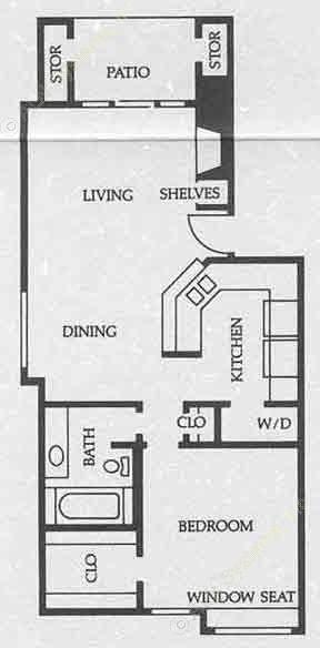 788 sq. ft. A4 50% floor plan