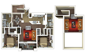 1,551 sq. ft. B4 floor plan