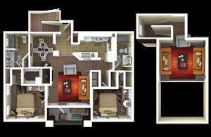 1,551 sq. ft. B4 floor plan