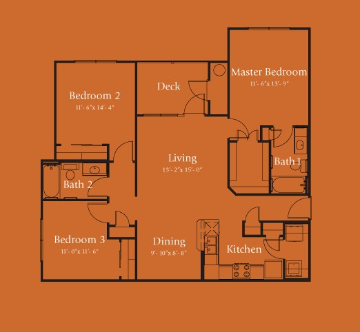 1,215 sq. ft. Colorado 60% floor plan