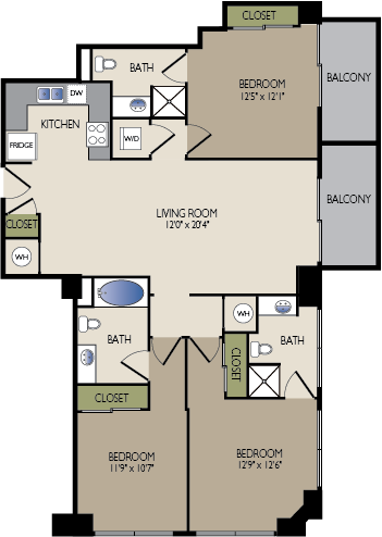 1,348 sq. ft. G floor plan