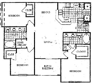 1,456 sq. ft. P floor plan