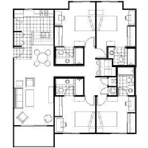 1,421 sq. ft. floor plan