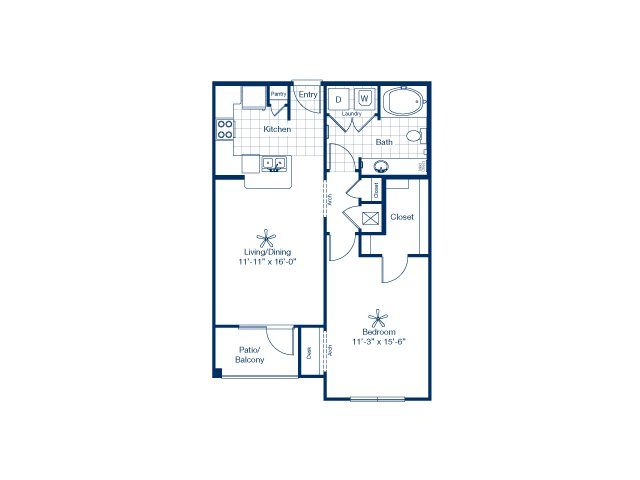758 sq. ft. to 767 sq. ft. Hawk floor plan