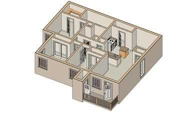 1,111 sq. ft. 60% floor plan